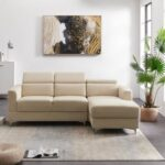 New 84.6″ 3-Seat Velvet Upholstered Sofa with Wooden Frame, and Metal Legs, for Living Room, Bedroom, Office, Apartment – Beige