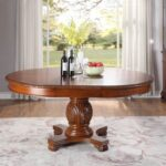 New ACME Chateau Dining Table with Wooden Tabletop, and Wooden Base, for Restaurant, Cafe, Tavern, Living Room – Cherry
