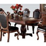 New ACME Chateau Dining Table with Wooden Tabletop and Wooden Base, for Restaurant, Cafe, Tavern, Living Room – Cherry