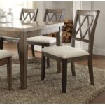 New ACME Claudia Linen Upholstered Dining Chair Set of 2, with High Backrest, and Wood Legs, for Restaurant, Cafe, Tavern, Office, Living Room – Beige