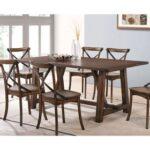 New ACME Kaelyn Rectangle Dining Table with Wood Frame, for Restaurant, Cafe, Tavern, Living Room – Dark Oak