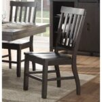 New ACME Maisha Wooden Dining Chair Set of 2, with High Backrest, for Restaurant, Cafe, Tavern, Office, Living Room – Walnut