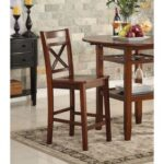 New ACME Tartys Counter Height Dining Chair Set of 2, with  Backrest, and Wood Legs, for Restaurant, Cafe, Tavern, Office, Living Room – Cherry