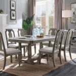 New ACME Rocky Dining Table with Wooden Frame, for Restaurant, Cafe, Tavern, Living Room – Gray