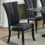 New Faux Leather Upholstered Dining Chair Set of 2, with High Backrest, and Wooden Legs, for Restaurant, Cafe, Tavern, Office, Living Room – Black