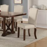 New Upholstered Dining Chair Set of 2, with High Backrest, and Wood Legs, for Restaurant, Cafe, Tavern, Office, Living Room – Cream