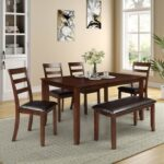 New Counter Height Rectangular Dining Table with Wooden Frame, for Restaurant, Cafe, Tavern, Living Room – Black