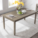 New 67.3″ Rectangle Wooden Dining Table for Restaurant, Cafe, Tavern, Living Room – Gray
