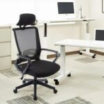New Home Office Mesh Adjustable Rotatable Chair with Ergonomic High Backrest and Lumbar Support – Black