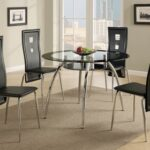 New Faux Leather Dining Chair Set of 4, with Key Hole Backrest, and Metal Frame, for Restaurant, Cafe, Tavern, Office, Living Room – Black