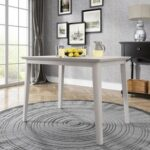 New TREXM Farmhouse Rectangle Dining Table with Wooden Tabletop, for Restaurant, Cafe, Tavern, Living Room – Gray