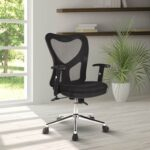 New Techni Home Office Mesh Adjustable Rotatable Gaming Chair with Ergonomic Backrest and Chrome Base – Black