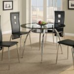 New Faux Leather Upholstered Dining Chair Set of 4, with Curved Backrest, and Metal Legs, for Restaurant, Cafe, Tavern, Office, Living Room – Black