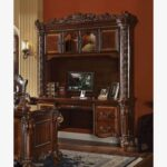 New ACME Vendome Computer Desk with Storage Drawers and Wooden Frame, for Game Room, Small Space, Study Room – Cherry