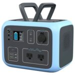 New BLUETTI AC50S Power Station 500Wh/300W Solar Generator Wireless Charging Battery Backup for Outdoor Tailgating Camping – Blue