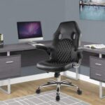 New Home Office Leather Rotatable Gaming Chair Height Adjustable with Ergonomic High Backrest and Casters – Black