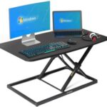 New Home Office 32″ Adjustable Computer Desk with Metal Frame, for Game Room, Small Space, Study Room – Black